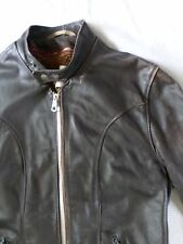 SCHOTT true vintage brown leather Café Racer motorcycle biker jacket 42L