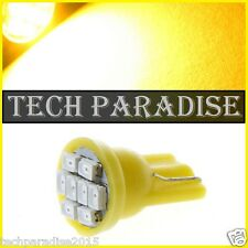 4x Ampoule T10 / W5W / W3W LED 8 SMD 1206 Jaune Yellow veilleuse lampe light