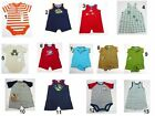 NEW Infant Baby Boys Romper Creeper Snapsuit Sz:PREEMIE,6,6-9,9,12 Months Mix Br