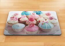 Cup Cake baking glass chopping cutting board food gift kitchen place mat home uk