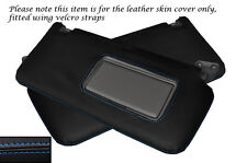 BLUE STITCH 2X SUN VISORS LEATHER SKIN COVERS FITS NISSAN PATROL Y61 1998-2013