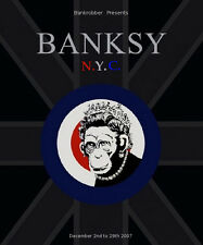 Banksy Original Graffiti Art Exhibit Poster MONKEY QUEEN 2'x3' Rare 2007 Mint