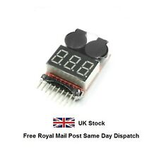 RC Lipo Battery Low Voltage Alarm 1S-8S Buzzer Indicator Checker Tester LED - UK