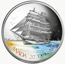 2005 $20 Silver Coin 3-Masted Ship - Tall Ships Series