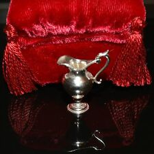 Miniature sterling silver vase Peter Acquisto 1:12 dollhouse