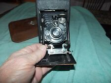 Contessa Nettell  Folding  Camera With Leather Case