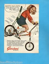 TOP972-PUBBLICITA'/ADVERTISING-1972- GIORDANI - BICICLETTA TEXINA