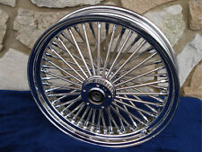 """21X3.5"""" DNA MAMMOTH 52 FAT SPOKE FRONT WHEEL FOR HARLEY TOURING BAGGER"""