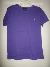 RALPH LAUREN COTTON SHORT SLEEVE TEE TOP NWT MISSES LARGE PURPLE