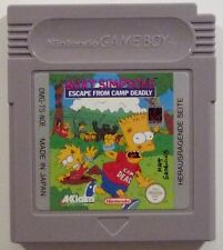 Bart Simpson´s Escape from Camp Deadly Nintendo Game Boy Classic Pocket GB #2