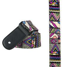 Multicoloured Ethnic Ukulele Mandolin Strap Aztec Inca uke graphic pattern trend