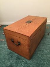 Vintage Antique Oak Cutlery Crockery Travel Chest Box Edwardian 1910/15