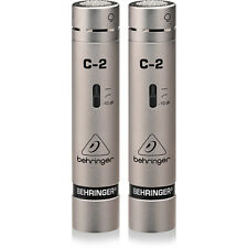 Behringer C-2 C2 Matched Studio Condenser Vocal Instrument Recording Microphones