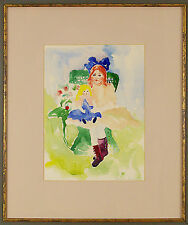 Jacqueline Rochester  ( American,1924 - 2010) Original Watercolor Painting