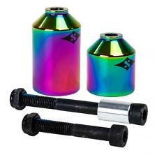Sacrifice Sacci Stunt Scooter Pegs (pair) Neo Chrome Free UK DELIVERY!