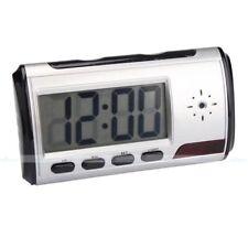 Hidden Mini Spy Camera Alarm Clock Motion Security DVR Support micro SD card WS