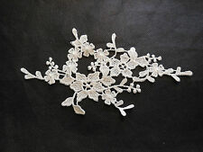 Off White bridal floral lace Applique/wedding lace motif for sale.20x10cm by pcs