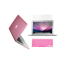 "3 in 1 Crystal  PINK Case for Macbook PRO 13"" + Keyboard Cover + LCD Screen"