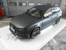 Audi a6 rs6 Avant coche familiar Quattro gris Grey 2014 c7 pma Minichamps rar 1:18