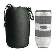 DSLR camera Drawstring Neoprene Lens Pouch Bag  Extra Large size - USA SELLER