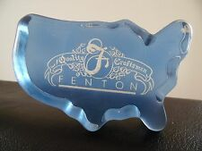 Fenton Art Glass United States  Paperweight / Store Display Sign