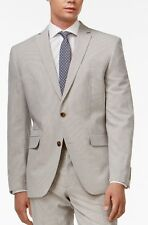 38R BAR III MENS COTTON GRAY WHITE SEERSUCKER MENS 2 PIECE SUIT 32X32 PANT $600