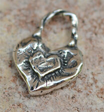 Let Love Shine Artisan Chunky Heart Charm in Sterling Silver 607