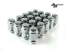 20 Pc CHROME SOLID CUSTOM BULGE ACORN WHEEL LUG NUTS JEEP WRANGLER # AP-1904