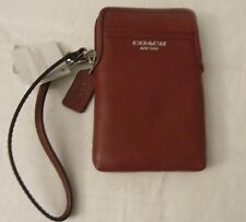 NWT COACH 62808 Legacy Leather Universal Case Wristlet  Black Cherry