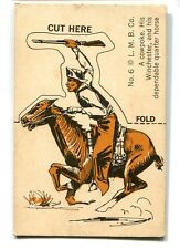 A Cowpoke His Winchester and His Dependable Quarter Horse Fold Stand Up No 6 LMB