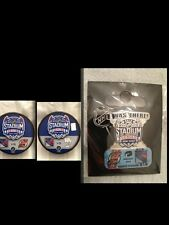 Puck and Pin Combo # 1 NHL Stadium Series Yankee NY Rangers Islanders NJ Devils