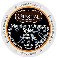Celestial Seasonings Mandarin Orange Spice Herbal Tea Keurig K-Cups 96-Count