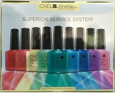 CND SHELLAC SUPERIOR SERVICE SYSTEM Gel Power Polish Kit~Everything You Need NIB