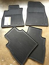NEW OEM 2014-2016 NISSAN SENTRA 4 PC ALL WEATHER RUBBER FLOOR MATS - BLACK