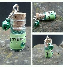 DISNEY TINKERBELL Inspired FAIRY DUST BOTTLES  Glitter Favours / Free Bell charm