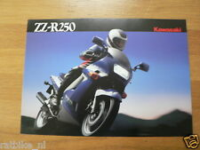 K080 KAWASAKI  BROCHURE PROSPEKT FOLDER ZZ-R250 EX250-H1/2 ENGLISH 4 PAGES