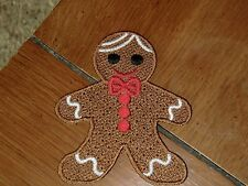Embroidered Magnet - Christmas - Gingerbread Boy - Small