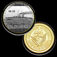 USS Delaware (BB-28) GP Challenge pinted Coin