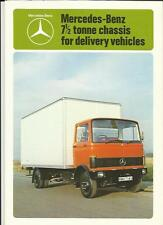 MERCEDES BENZ 7.5 TONNE CHASSIS FOR DELIVERY VEHICLES LORRY BROCHURE 1980/81