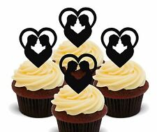 Civil Gay Wedding Edible Cupcake Toppers, Fairy Cake Decorations Anniversary Men