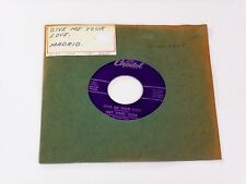 """NAT KING COLE GIVE ME YOUR LOVE/MADRID*CAPITOL F4125*1959*7""""45 POP/JAZZ*EX+"""