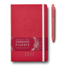 Starbucks 2017 Moleskine Planner Weekly Red Hard Cover Registered Mail Limited