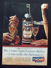 F399 - Advertising Pubblicità - 1963 - CINZANO BIANCO PER I VOSTRI OSPITI