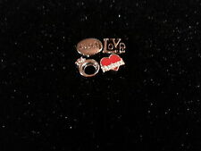 RING LOVE FAITH HUSBAND CHARM FOR LIVING MEMORY LOCKET PENDANT FLOATING CHARMS 7