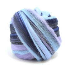 100g DYED MERINO WOOL TOP TYPHOON BLEND DREADS 64's SPINNING FELTING ROVING