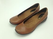 Hush Puppies Tan Alter Pump Leather Flats US 9 Narrow