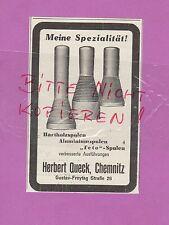 CHEMNITZ, Werbung 1932, Herbert Queck Hart-Holz-Spulen Aluminiumspulen