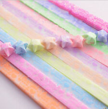 Origami Luminous Lucky Wish Star Paper Strips Glows in the dark Craft Gift b0