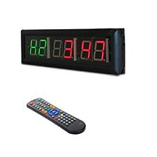 Crossfit Interval Timer Wall Clock w/Remote For EMOM Tabata MMA Boxing
