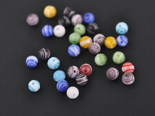 Wholesale 100pcs 6mm Mixed Round Millefiori Lampwork Spacer Loose Glass Beads